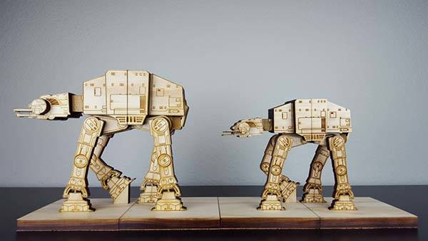 Handmade Star Wars AT-AT Bookends