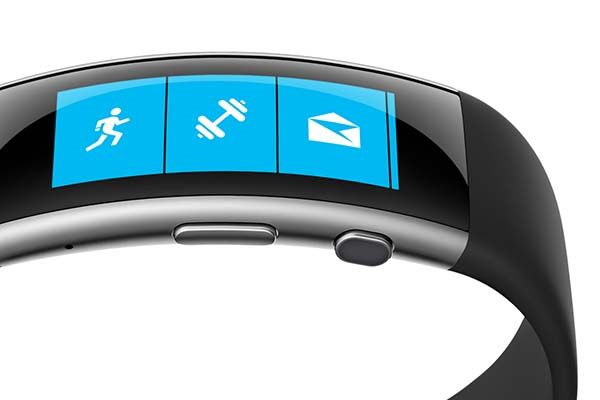 microsoft band 2 fitness tracker with curved screen. Black Bedroom Furniture Sets. Home Design Ideas