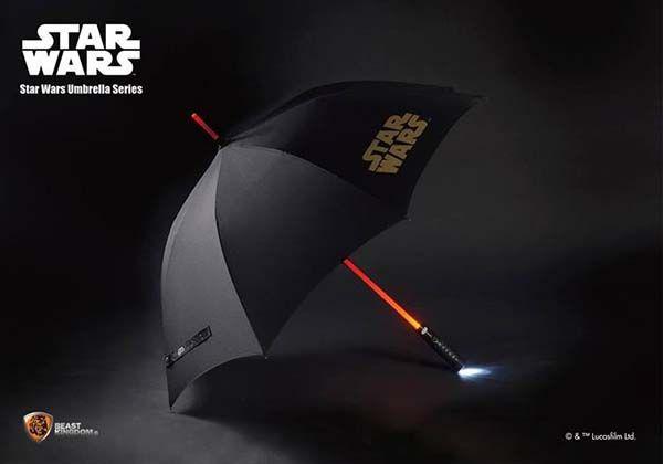 Star Wars Light Up Lightsaber Umbrella Gadgetsin
