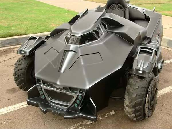 Awesome Arkham Knight Batmobile Modified from a Go-Kart