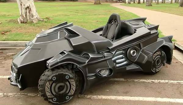 The Awesome Arkham Knight Batmobile Modified From A Go Kart Gadgetsin