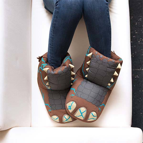 The Bootie-Styled Slippers Make Your Feet Sound Like a Giant Monster