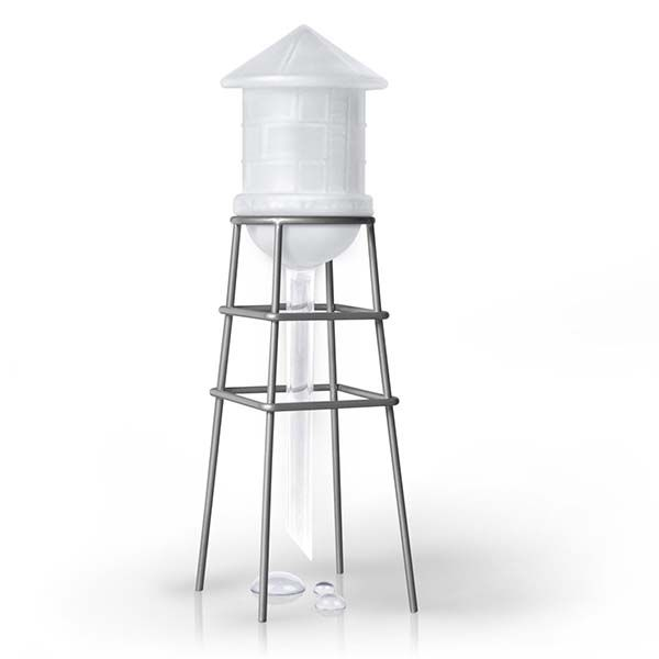 The Water Tower Shaped Self Waterer for Your Pot Plant