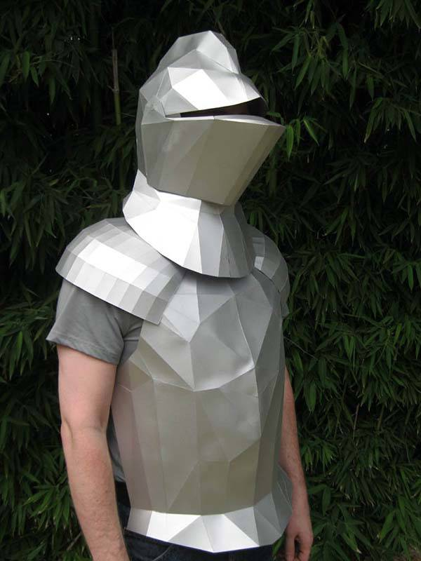 The Geometric Papercraft Disguises You as a Medieval Knight
