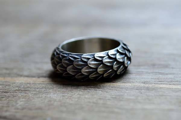 Handmade Game of Thrones Dragon Inspired Sterling Silver Ring