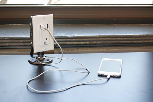 The Handmade Industrial Desk Usb Charging Station Gadgetsin