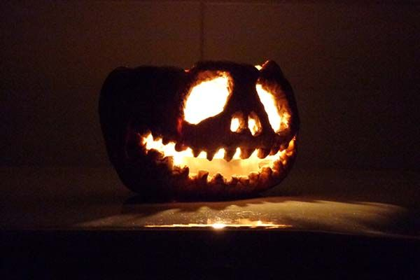 Handmade Pumpkin Candle Holder for Halloween