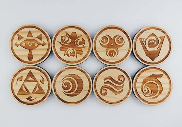 The Handmade Wooden Coaster Set Boasts Those Iconic Zelda