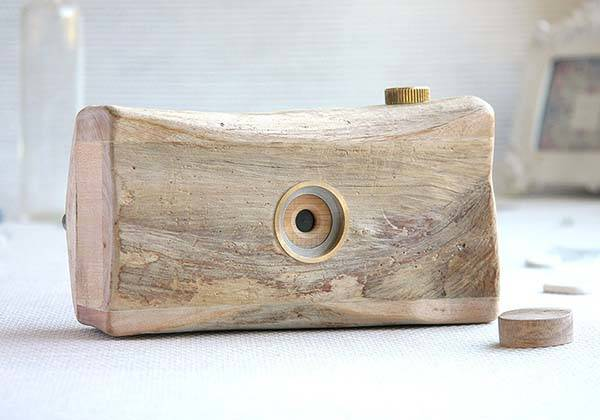 Handmade Wooden Pinhole Camera - one of our handmade gifts