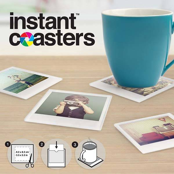 Instant Photo Drink Coasters Show off Your Own Photos