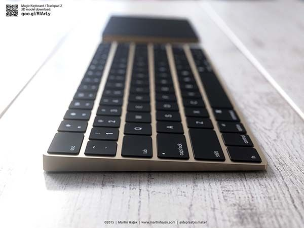 The Renderings Show Us Gold iMac, Magic Trackpad 2 and Magic Keyboard
