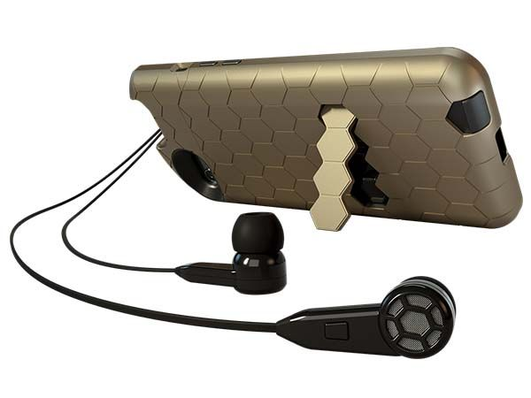 TurtleCell iPhone 6 Case with Built-in In-ear Headphones and Stand