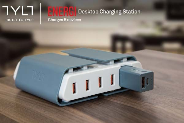 TYLT ENERGI Charging Station with Detachable Power Bank