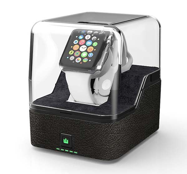 Trident Valet Apple Watch Portable Charging Station with Power Bank and USB Port