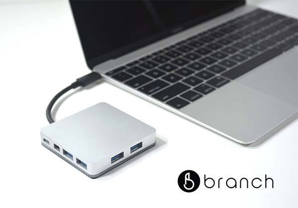 Branch Aluminum USB-C Hub for New MacBook