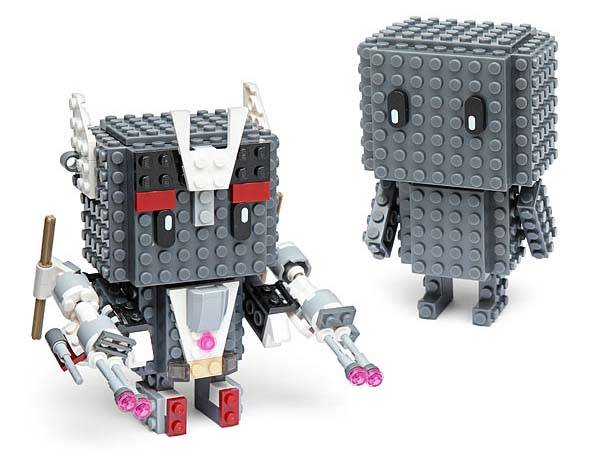 BrickBoy Building Brick Figure Works with LEGO, Mega Bloks, KRE-O and K'NEX bricks