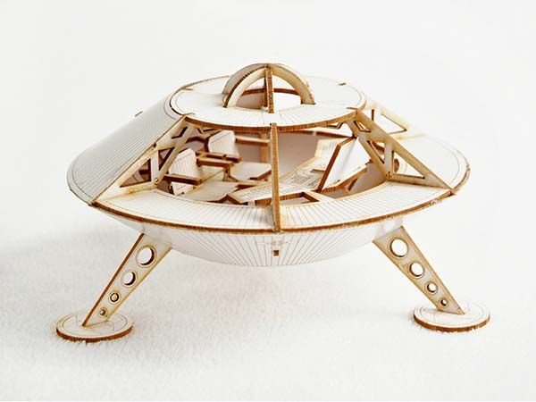 Handmade Miniature Mars Lander Model Kit