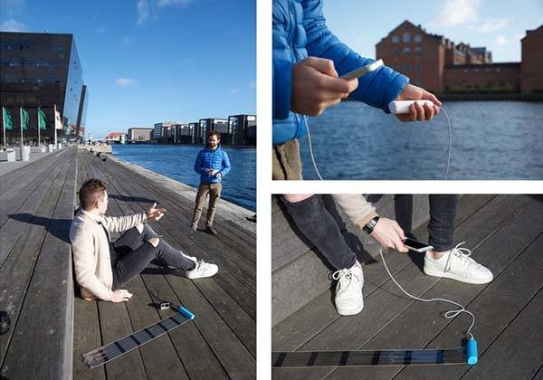 HeLi-on Portable Solar Charger Features a Retractable Solar Panel