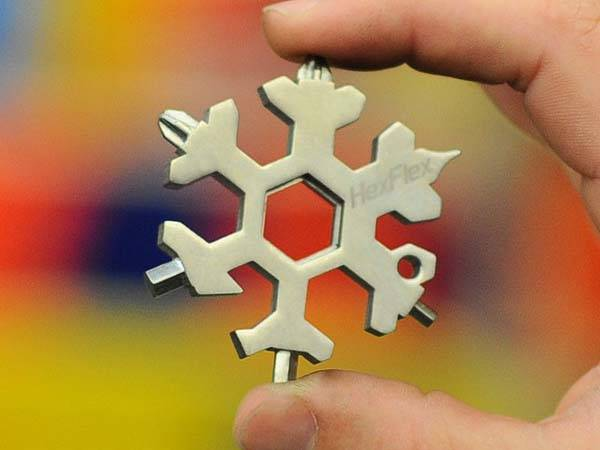 HexFlex Snowflake Shaped Multi-Tool with 15 Tools