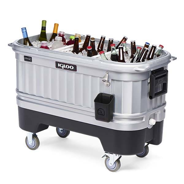 Igloo Party Bar Cooler with a Built-In LED Light System