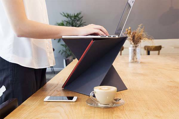 LEVIT8 Affordable Flat Folding Portable Standing Desk