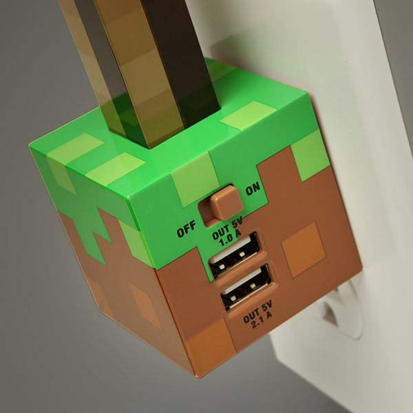 Minecraft Redstone Torch Usb Wall Charger on Light Switch