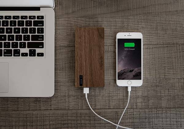 Nomad PowerPlant Wooden Power Bank with 12,000mAh Backup Battery