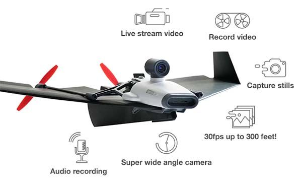 PowerUp FPV Paper Airplane Fliying Drone with Live Streaming Camera