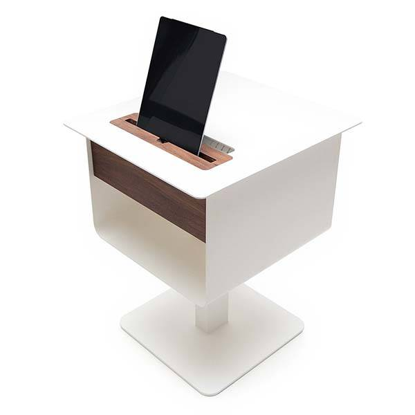 Spell Nomad Nightstand Table Boasts Integrated Charging Station for Your Smartphone Tablet and Other Devices