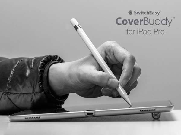 SwitchEasy CoverBuddy iPad Pro Case with Removable Apple Pencil Holder