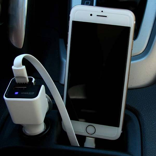 The Air USB Car Charger with Ionic Air Purifier