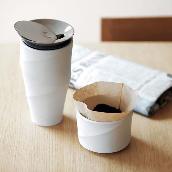 The Wave Commuter Mug with Included Drip Filter Holder and Sliding Lid