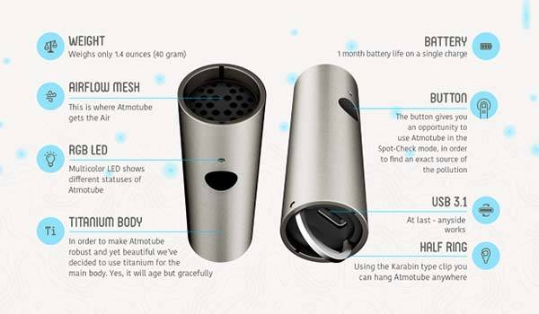 Atmotube Titanium Portable Air Pollution Monitor