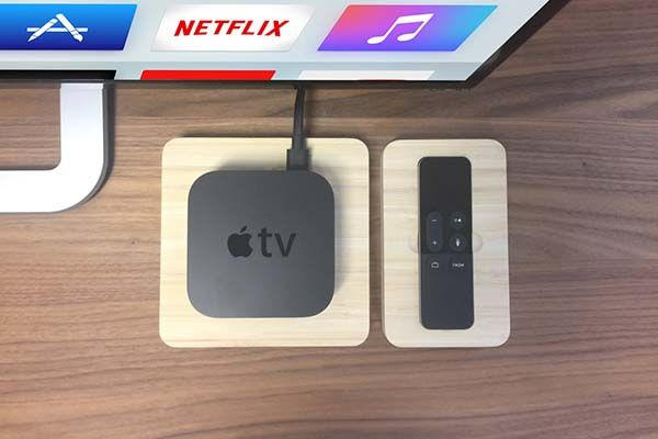 Handmade Bamboo New Apple TV Docking Station