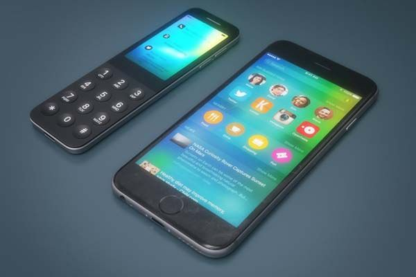 iDot Concept Feature Phone with Apple Logo