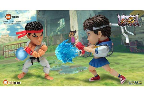 Street Fighter Ryu and Sakura Action Figures