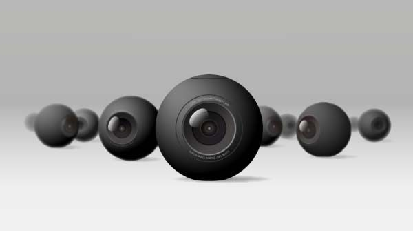 Luna Spherical 360-Degree Panoramic Mini Camera