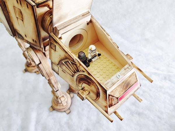 The Star Wars AT-AT Walker Model Built with Plywood