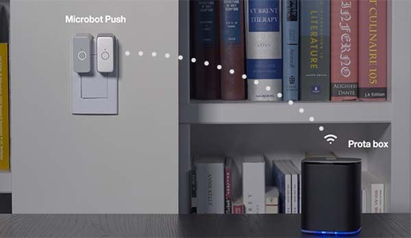 Microbot Push Wireless Robotic Finger Turns Your Devices into Smart Devices