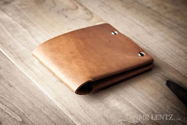 Mr. Lentz Handmade Personalized Minimal Leather Wallet