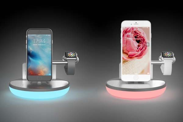 NuDock Mini App-Enabled Charging Station with Integrated LED Lamp