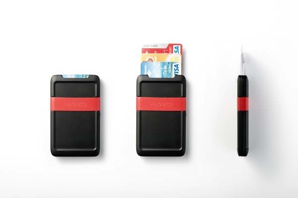 Pocket Credit Card Holder with Integrated Power Bank
