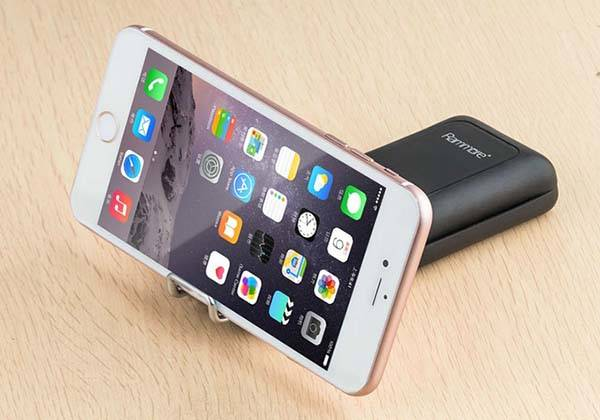 RamMore X External Storage Device with Power Bank, MicroUSB/ Lightning Cable and Phone Stand