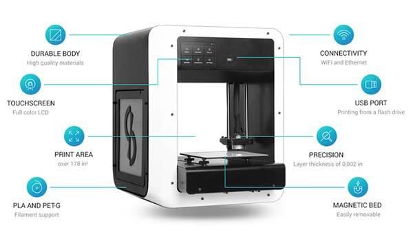 Skriware Home 3D Printer with Online 3D Model Market
