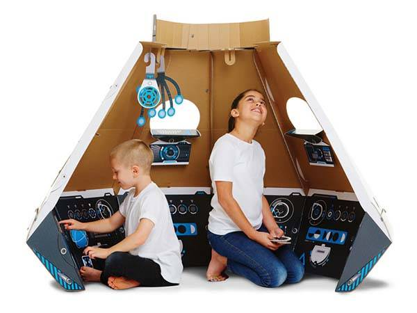 Space Pod Cardboard Construction Set