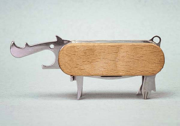 The Animal Army Knife with 7 Cute and Useful Tools