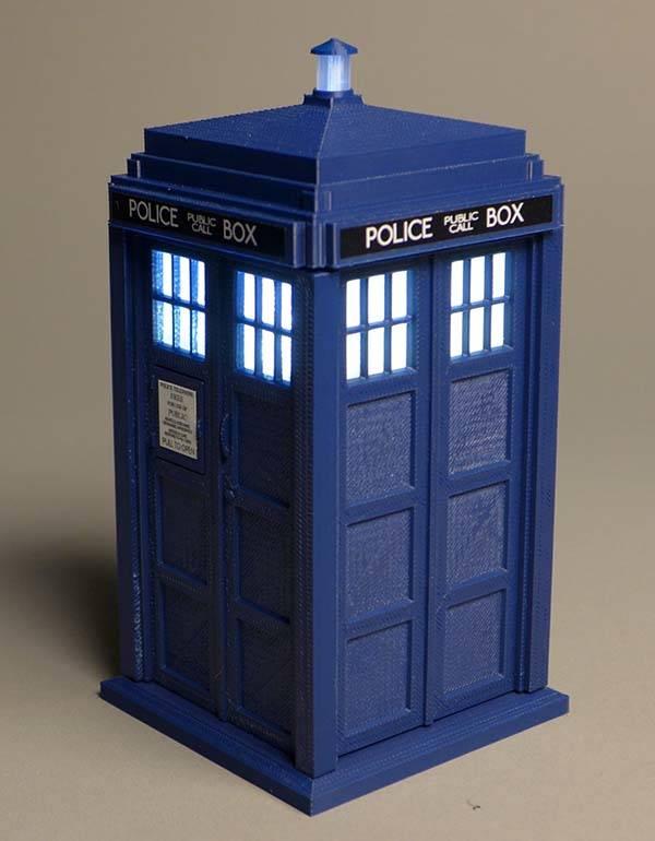 Doctor Who 3D Printed TARDIS Model Kit