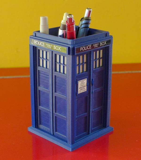 The Doctor Who 3d Printed Tardis Model Kit Serves As A Pen