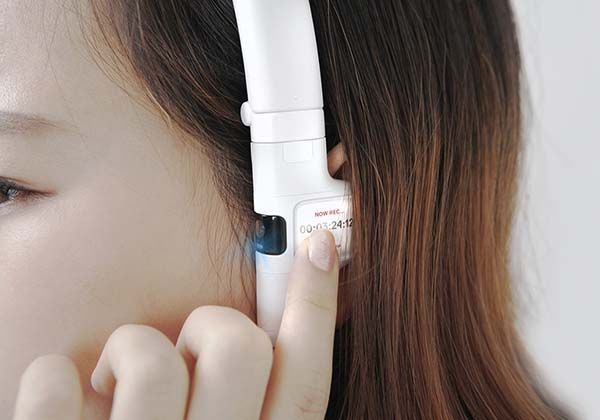 Concept Emotion Bluetooth Headphones with Detachable Action Camera with EEG Technology