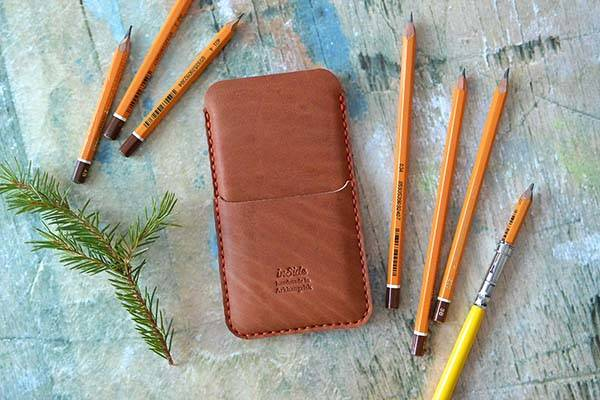 Handmade Leather iPhone 6s Sleeve
